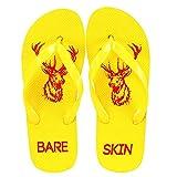 Bareskin Trendy Yellow Rubber Flip Flops