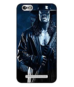 Case Cover Undertaker Printed Blue Hard Back Cover For Lenovo Vibe C A2020
