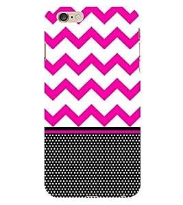 Chevron Pink Black Dots Cute Fashion 3D Hard Polycarbonate Designer Back Case Cover for Apple iPhone 6S Plus