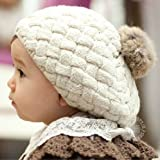 【la select】ポンポン付き ベビー キッズ ニット帽子 [ベージュ/F][ピンク/F]