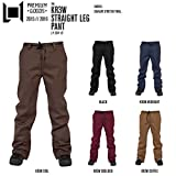 15-16 L1 エルワン スノーボードウェア KR3W STRAIGHT LEG PANT クルー ストレート レグ パンツ メンズ スノーウェア KR3W COLLABORATION (KR3W_COFFEE, S)