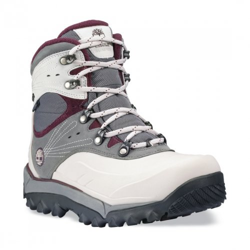 Timberland Rime Ridge Mid, Lace, Waterproof grey/white (Size: 40) winter shoes