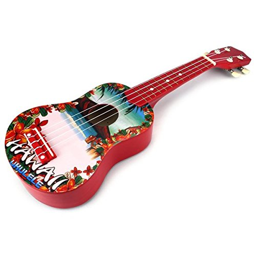 velocity toys graphic ukulele 4 stringed toy guitar lute musical instrument red. Black Bedroom Furniture Sets. Home Design Ideas