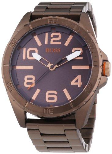 Hugo Boss  Berlin - Reloj de cuarzo para hombre, con correa de acero inoxidable, color marrón