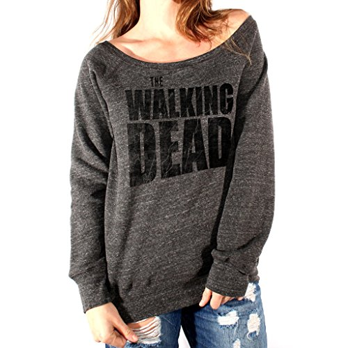 Felpa Fashion THE WALKING DEAD THE GRUNGE TITLE - FILM by Mush Dress Your Style - Donna-S-Charcoal Triblend