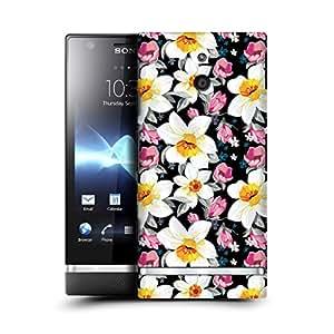 MobileGlaze Designs Elegant Floral Pattern Tropical Flower Hard Back Case Cover for SONY XPERIA P LT22i