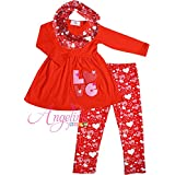 Angeline Boutique Clothing Valentine's Day Love Embroidery Heart Party Legging Set Set 7/2XL