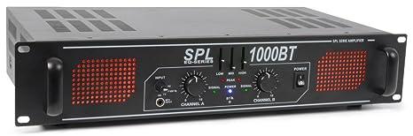 Skytec sPL - 1000BT pa-amplificateur hi-fi bluetooth amplificateur, entrée aUX, égaliseur 3 bandes, 1000W 3 x rCA stéréo noir