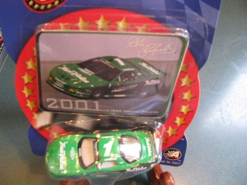Dale Earnhardt Sr #1 Green True Value IROC Series Last IROC Car Before His Untimely Death 1/64 Scale 2001 Green True Value IROC Winners Circle With Photo Collector Card Insert - 1