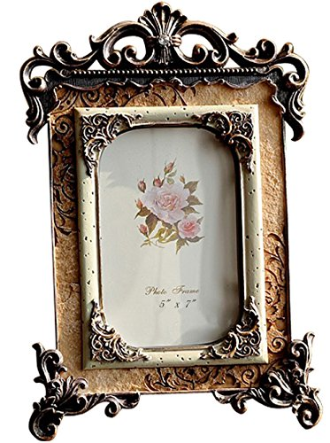 Gift Garden 5 by 7 -Inch Vintage Picture Frames European Retro Photo 5x7 (Antique Picture Frames compare prices)