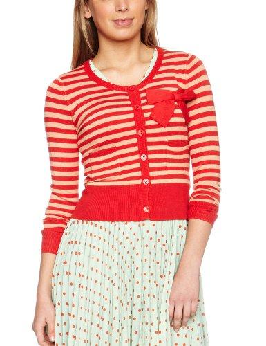 Louche Thora Women's Cardigan Red/Peach 14