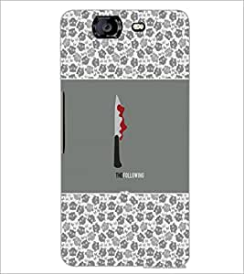 PrintDhaba Knife D-5716 Back Case Cover for MICROMAX A350 CANVAS KNIGHT (Multi-Coloured)