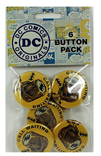 "Button set DC Comics Batman Bat Signal Button (6-Piece), 1.25"" at Gotham City Store"