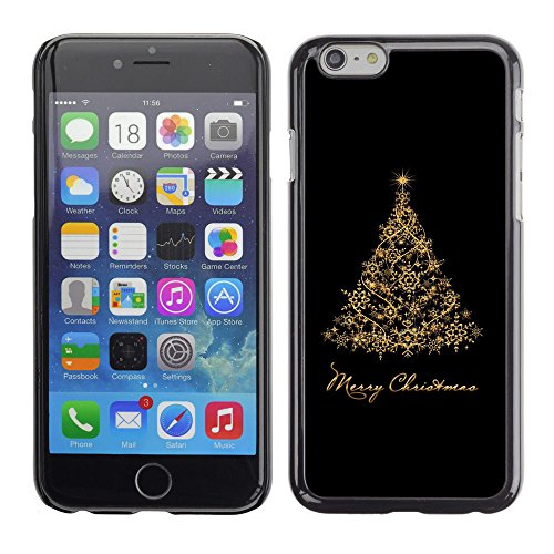 GooooStore/Dura Custodia Rigida della copertura della cassa - Christmas Holidays Black Gold Tree - Apple iPhone 6