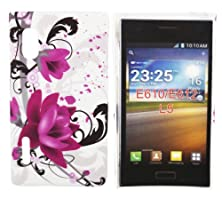 buy Kit Me Out Us Hard Clip-On Case + Screen Protector With Microfibre Cleaning Cloth For Lg Optimus L5 E610 - Purple Bloom