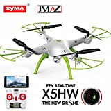 JMAZ Syma X5HW FPV RC Quadcopter Drone HD WIFI FPV Camera Take Picture Record Video Hover Function White with Free Gift Flying Toy