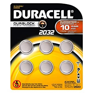 Duracell 2032 Coin Button Batteries, 2 Count