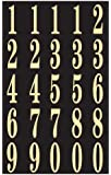 "Hy-Ko MM-3N Self-Stick Numbers, 2"", Black/Gold"