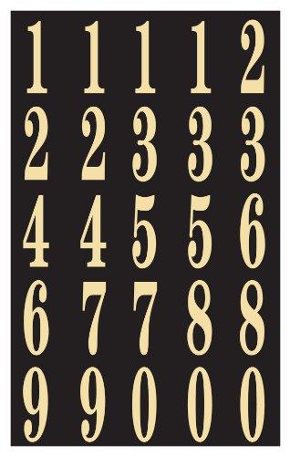 "Hy-Ko MM-3N Self-Stick Numbers, 2"", Black/Gold"