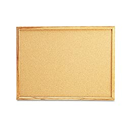 Universal Products - Universal - Cork Bulletin Board, 24 x 18, Natural, Oak Frame - Sold As 1 Each - 1/32quot; thick all-natural cork is self-healing with dense softboard backing. - Affixed to a dense fiberboard supported by frame with mitered corners. -