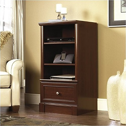 Sauder Palladia Technology Pier Free Standing Cabinet, Select Cherry Finish (Media Cabinets compare prices)
