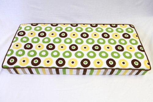 Mod Dots/Stripes Green/yellow/choco Dots changing pad cover