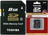 TOSHIBA/東芝 SDHCカード Class4 8GB SD-K08GR6W4 (海外パッケージ品)