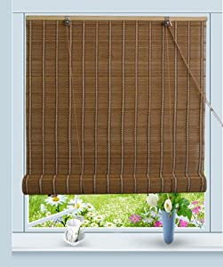 bamboo roll up window blind sun shade w32 x h72 home kitchen. Black Bedroom Furniture Sets. Home Design Ideas