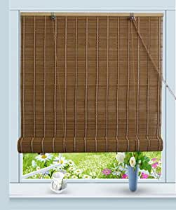 buy bamboo roll up window blind sun shade w32 x h72 by asian home online at low prices in india. Black Bedroom Furniture Sets. Home Design Ideas