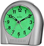 Acctim Smartlite Silent Sweeper Alarm Clock Glow in Dark 12257S