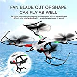 GEEDIAR-JJRC-H31-RC-Quadrocopter-Headless-Modus-360--Rollend-3D-CF-24G-4CH-6-Achse-RTF-mit-LED-Licht-fr-Nachtflug-eine-Taste-zum-Rckkehr-WeiSchwarz