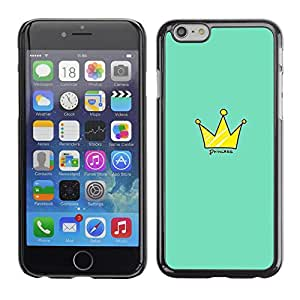 Omega Covers - Snap on Hard Back Case Cover Shell FOR Iphone 6/6S (4.7 INCH) - King Quote Green Gold Royal