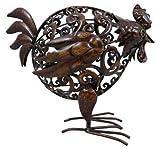 Head Down Dark Metal Chicken Garden Animal Ornament