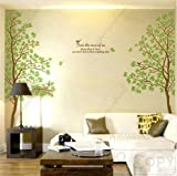Tree- Wall Art Decals Graphic for Home Decor/ Wall Sticker (Twin Tree)