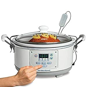 Hamilton Beach 33956 Set 'n Forget 5-Quart Slow Cooker, White