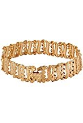 niceEshop(TM) 18K Yellow Gold Plated Luxury Lady Girls Wide Bangle Tennis Bracelet
