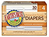 Earths Best Chlorine-Free Diapers, Size 4, 120 Count (Packaging May Vary)