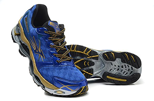 Mizuno Wave Prophecy 2 Mens Athletic Running Shoes Blue/Gold US 14 (Mizuno Running Shoes Prophecy compare prices)