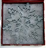 "R & M 7.5 Inch Snowflake Cookie Cutter Gift Package: One R & M Giant 7.5"" Snowflake Cookie Cutter Nestled In A Christmas Presentation Gift Box With Coordinating Ribbon"