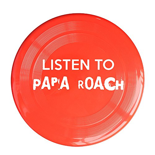 RCINC Papa Listen To Music Roach Outdoor Game Frisbee Ultra Star Red