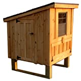 Horizon Structures Mini 2 Chicken Coop Kit, Pine Board and Batten with Clear Stain and Black Shingles