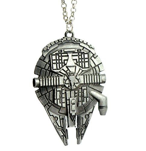 STAR WARS-Collana-Accessori, Millenium Falcon Palladio Starship Ciondolo in confezione regalo