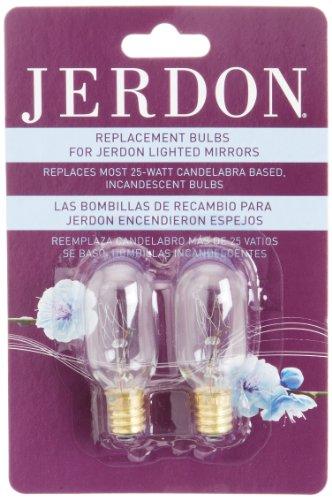 Jerdon Jpt25w 25 Watt Replacement Light Bulbs For Lighted
