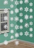 6 décorations à suspendre - Flocons de neige chatoyants en aluminium - Noël