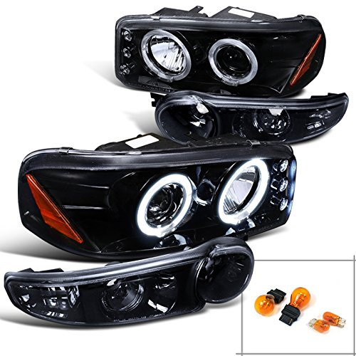 Gmc Yukon Denali Slt Led Halo Projector Headlights , Bumper Lights Smoked