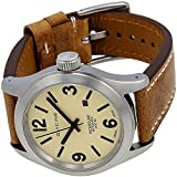 Glycine Mens Watch Incursore Brown Leather Strap Swiss Automatic 3874.15 LB7BH