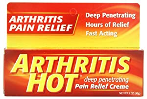 Arthritis Hot Deep Penetrating Pain Relief Cream 3 ounce (Pack of 6)