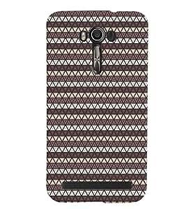 PrintVisa Corporate Print & Pattern Triangles 3D Hard Polycarbonate Designer Back Case Cover for Asus Zenfone Go