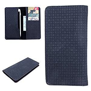 DooDa PU Leather Case Cover For Panasonic Eluga L 4G (Black)