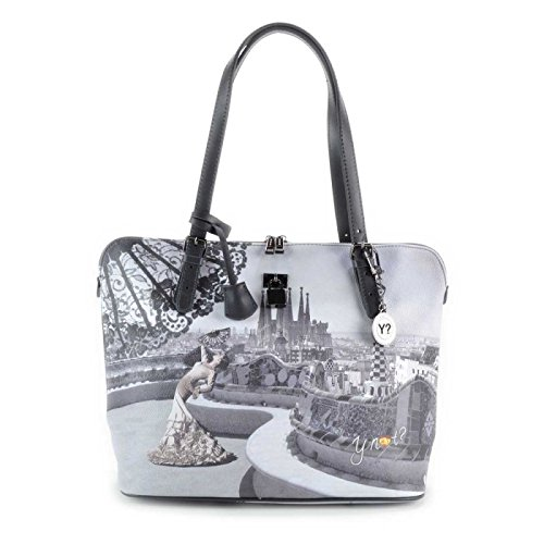 Y NOT? - Borsa shopper donna clip manici shopping medium g-377 barcellona flamenco